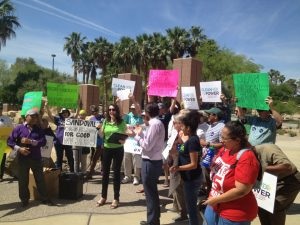 Groups deliver signatures to Governor Sandoval in support of a sustainable future